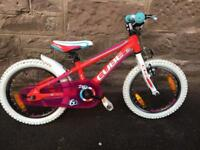 "Cube 160 Kids Bike - 16"" wheels in Red/Pink"