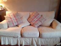 Cream fabric couch