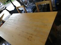 Ikea table and chair dining set