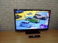 """Cello 32"""" Modern Slim LED TV with Freeview, 3 x HDMI Ports, Remote & Stand"""