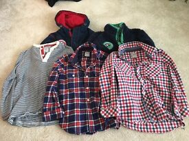 Bundle of Boys Crew Clothes Shirts, Top and Hoodies Aged 6
