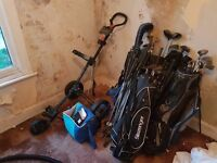 Assorted Golf Clubs, 4 Bags and Golf Balls