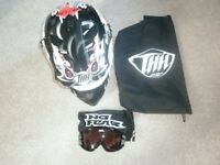 THH Black Joker Helmet and Goggles