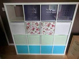 IKEA Kallax Unit with 15 Boxes