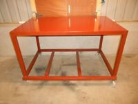 mobile heavy duty steel workbench ( work bench )