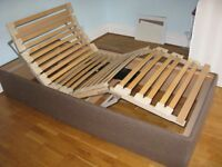 Electric single bed as new with free memory foam mattress as new.