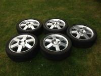 5 X FORD KA ALLOY WHEELS WITH TYRES