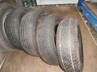 4 x mpv/van 6 ply tyres 215/65/R15 used