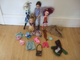 Ever After High dolls and clothes