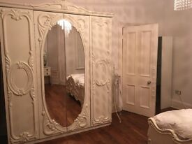 Stunning huge Rococo mirrored wardrobe