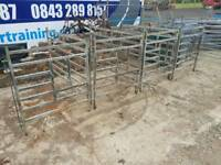 Calf pens consists of six fronts three sides farm livestock tractor