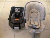 Mamas & Papas Atom Cybex car seat and Cybex ISOFIX base