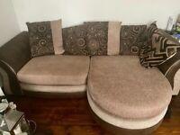 Corner sofa & love seat