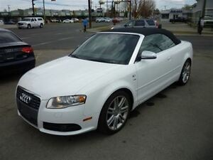 2007 Audi S4 CONVERTIBLE/6 SPD/LEATHER/NAVI/ALLOYS/340 HP!