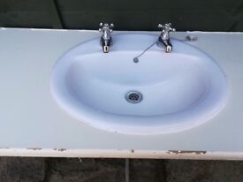 Vanity Sink with all fittings, waste & taps
