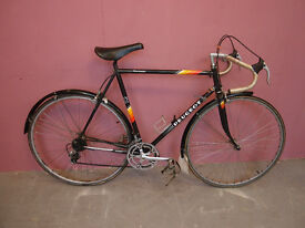 VINTAGE BLACK TOURMALET FRENCH RACING BIKE 1980/90's with Carbolite 103 steel tubing 12 Speed Gears