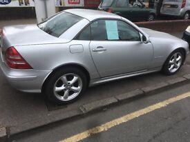 Mercedes slk 230 02 plate hardtop convertible