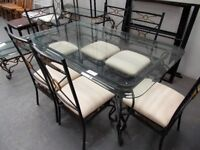 Glass and Metal Table and Chairs…31777C