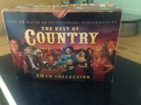 PRE OWNED 20 CD SET OF THE BEST OF COUNTRY OVER 18 HRS LISTENING