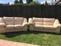 FREE real leather sofas