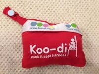 Koo-di Pack-It Seat Harness (Travel High Chair) in Red in Very Good Condition