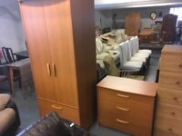 ALSTONS WARDROBE AND CHEST OF DRAWER SET
