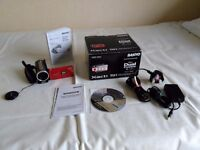 Sanyo Xacti Camcorder in Red * Boxed * with CD & Manual