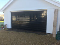 Steel Double Garage Door with electric remote open/closer