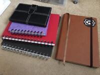 5x small sketchbooks