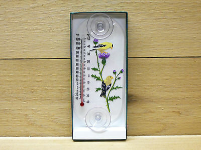 (Aspects Original Window Thermometer Goldfinch Pair)