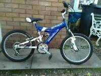 "Boys 20"" wheel mountain bike."