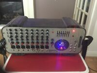 PA system gigrac 300 amp/mixer and mackie c200 speakers