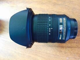 Nikon ultra-wide angle lens AF-S 10-24mm 3.5-4.5 G ED - as new