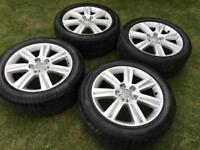 "Audi A4 B8 17"" Alloy wheels with tyres - T4 Transporter 5x112 Avant"