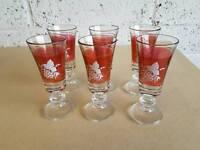 6 Sherry Glasses