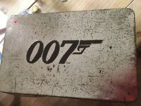 James Bond DVD gift set in a tin collectors box