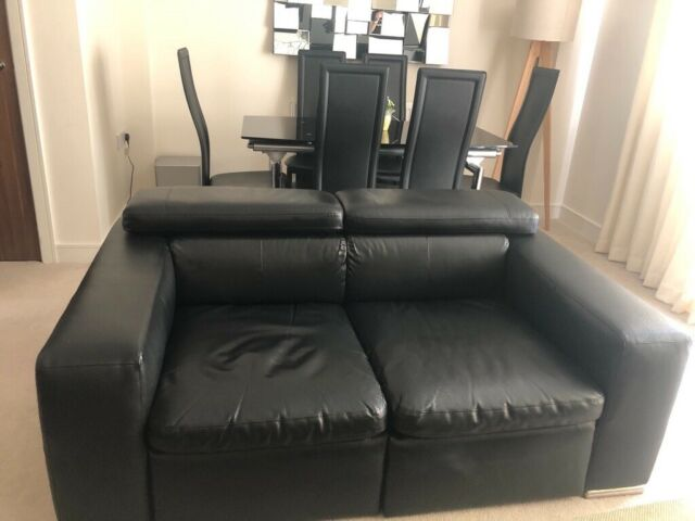 2 Black Leather 2 Seater Dwell Sofas In Godalming Surrey Gumtree