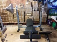 FULL OLYMPIC BLACK BULL FITNESS SET INCLUDES + BENCH + RACK + WEIGHTS + 7FT BARBELL