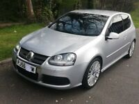 ***A BEAUTIFUL GOLF R32 MK5 METALIC SILVER WITH FULL SERVICE/HIS,6 MONTHS ROAD TAX & STAGE 1 REMAP**