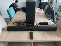 Jvc 2.1 channel sound bar with wireless subwoofer