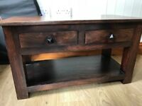 Small wooden console table