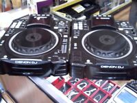 DENON DJ SC2900 PAIR OF DECKS WITH PHONO CABLES