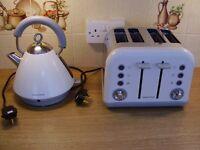 Morphy Richards Retro Kettle & Toaster Set in white