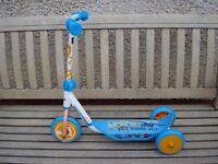 Kids disney planes 3 wheel scooter