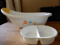 Mothercare baby bath and top and tail bowl