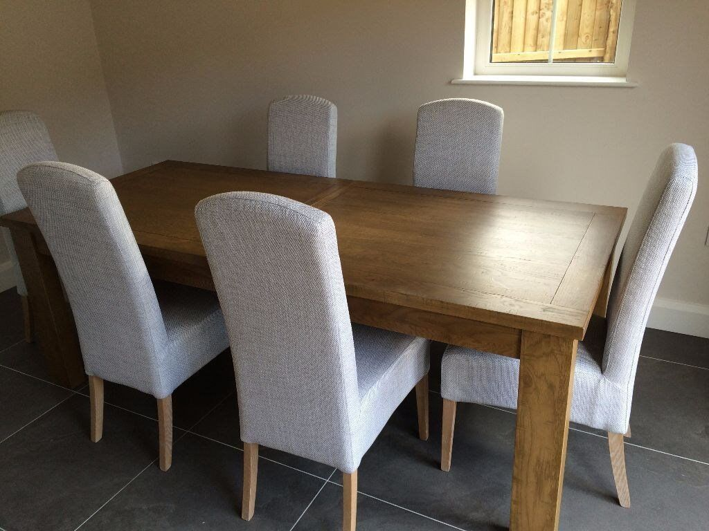 New 6 X Premium Dining Room Light Silver Grey Chairs From Next Home
