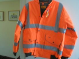 orange medium hi vis bomber jacket