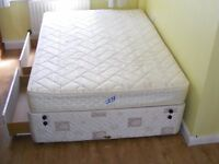 CAN DELIVER - DOUBLE DIVAN BED WITH 4 DRAWERS AND MATTRESS IN VERY GOOD CONDITION
