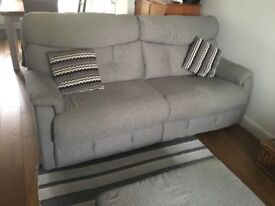 3 Seater settee with footstool storage,
