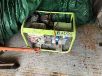 Honda generator 110/240 twin ports
